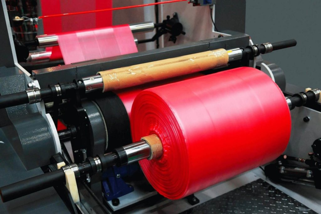 red plastic roll manufacturing