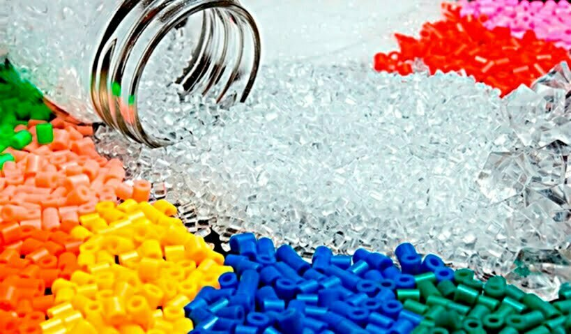 variety colour of plastic material